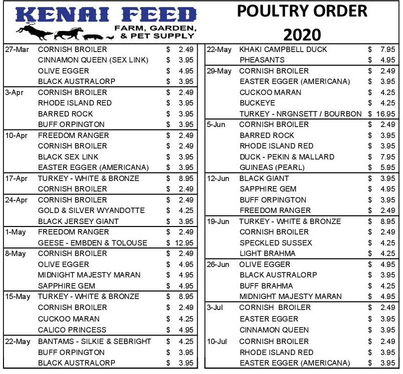 poultry orders 2020 website